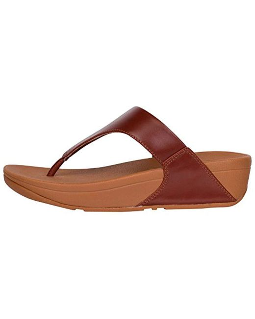 65b3567d2f9a Lyst - Fitflop Lulu Thong Sandal in Brown - Save 6%