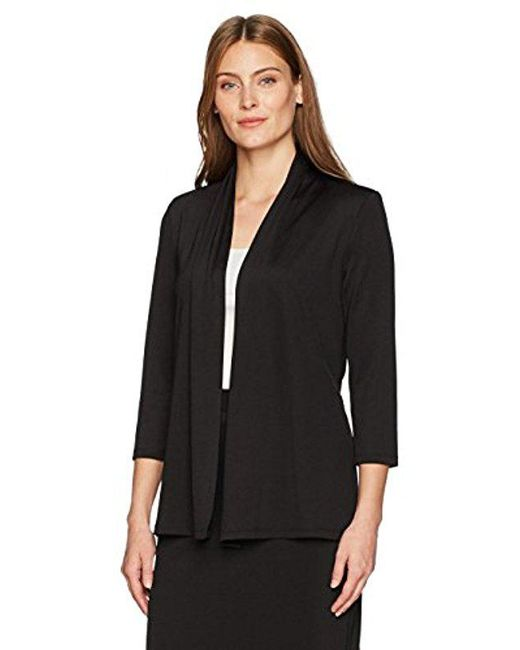 Kasper - Black 3/4 Sleeve Cardigan With Back Waist Detail - Lyst
