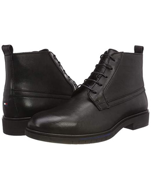 bdffb06c29a9 ... Tommy Hilfiger - Black Flexible Dressy Leather Boot Desert for Men -  Lyst ...