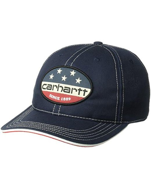 00b8d27188b Lyst - Carhartt 103047 Flag Patch Cap in Blue for Men - Save 13%
