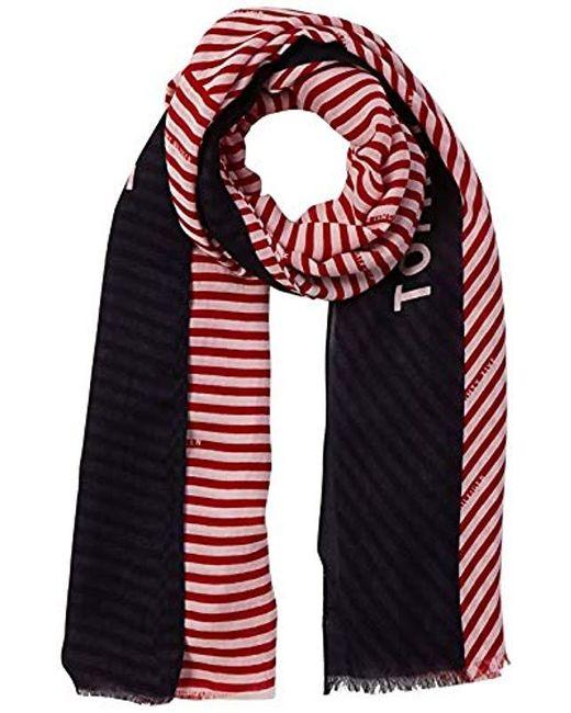 907f057e1 Tommy Hilfiger - Sailing Stripe Print Scarf, Bufanda Mujer, Rojo (Tommy Red  614 ...