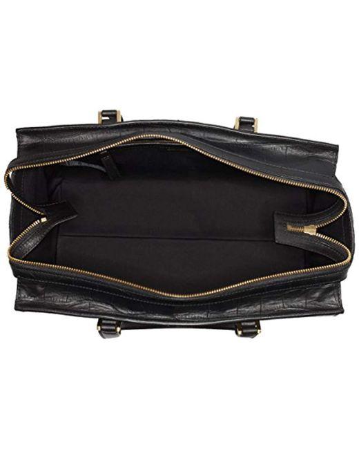 845f5277e79 Calvin Klein Shari Croc Large Tote Bag, (black 001), 18x24x49 Cm (b ...