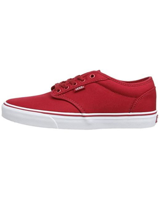 c6a261cc79 Vans Atwood Canvas Low-top Sneakers in Red for Men - Save 57% - Lyst