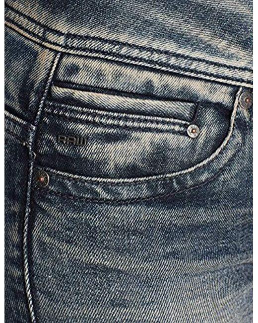 219c58f31fc ... G-Star RAW - Blue Midge Saddle Mid Waist Straight Jeans - Lyst ...