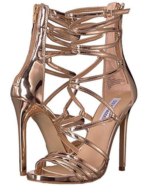 7233657eba8 ... Steve Madden - Multicolor Flaunt Heeled Sandal - Lyst ...