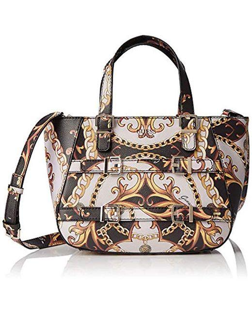 Guess - Black Jori Satchel Top-handle Bag - Lyst ... 010102133ec11