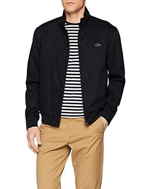 Blouson Homme Lacoste pour homme en coloris Black