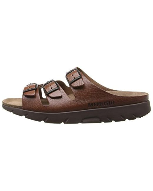 ff2a1f976b09 ... Mephisto - Brown Zach Tan Full Grain Leather Sandal - Lyst ...