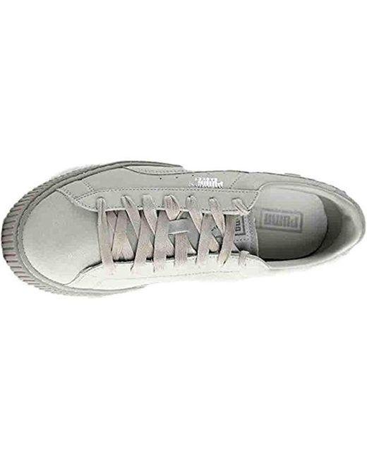 7a935008dff0 Lyst - PUMA Basket Platform Reset Wn s Fashion Sneaker in Gray - Save 9%