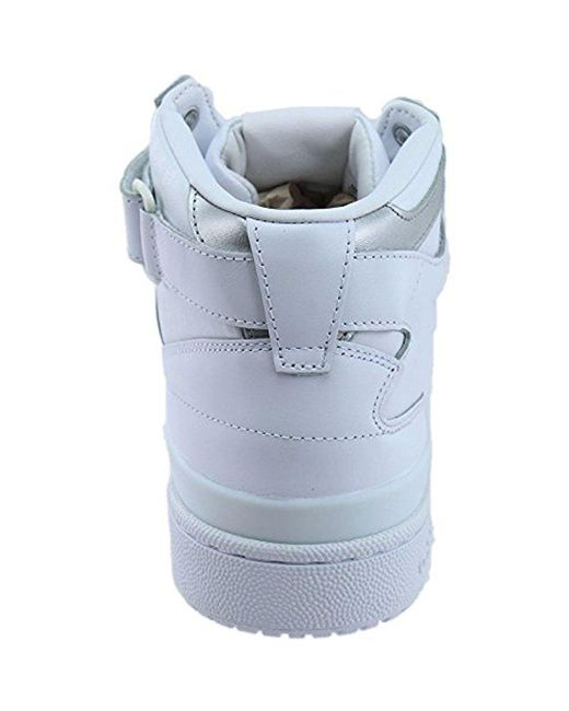 cf481d3322de ... where can i buy adidas originals white forum mid refined fashion  sneaker for men lyst 346a7