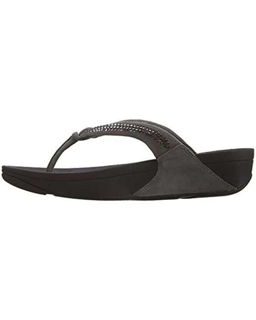 cf3a96e4982 Lyst - Fitflop Crystal Swirl Flip-flop in Black - Save 14%