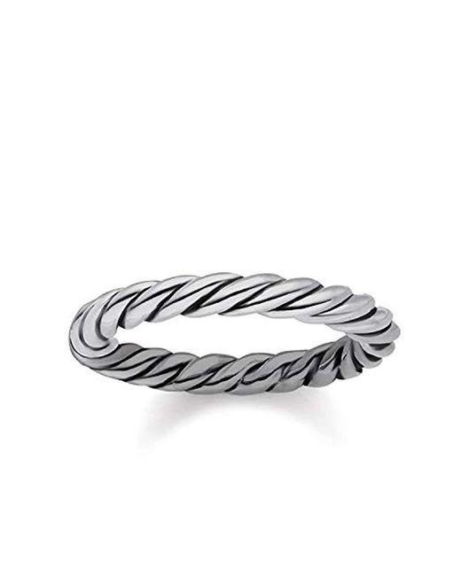 Thomas Sabo - Metallic Unisex Ring Kordeloptik 925er Sterlingsilber, Geschwärzt TR2133-637-21 for Men - Lyst