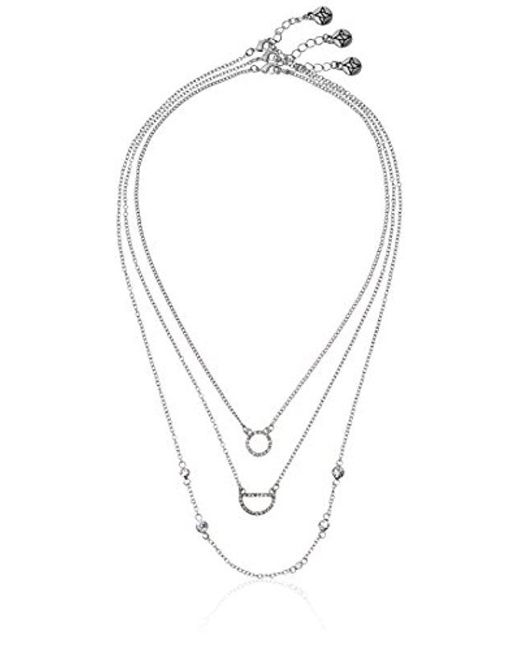 "BCBGeneration - Multicolor ""little Layers Pave Layered Trio Pendant Necklace - Lyst"