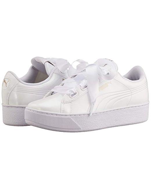 77df33ea7cf PUMA Vikky Platform Ribbon P Low-top Sneakers in White - Save 46% - Lyst