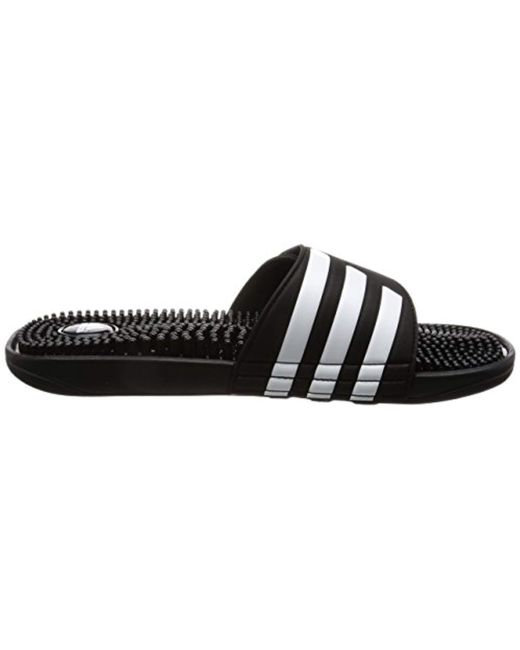 8145cc21e ... Adidas - Black Addissage Slides Flip Flops Fitness Shoes for Men - Lyst  ...