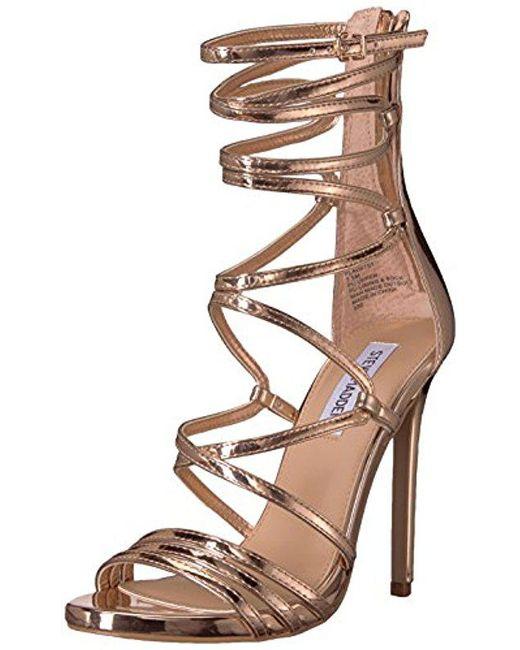 ed932f9af1b Steve Madden - Multicolor Flaunt Heeled Sandal - Lyst ...