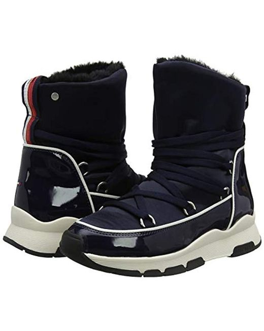262aa8fb722ee ... Tommy Hilfiger - Blue  s Cool Technical Satin Winter Boot Snow ...