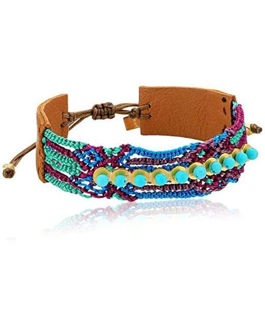 Chan Luu - Multicolor Mix Pull Tie Friendship Cuff Bracelet - Lyst