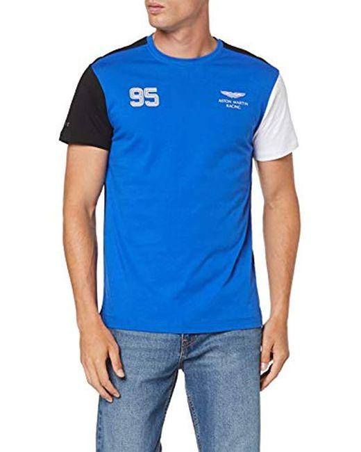 Hackett Blue Aston Martin Racing Multi Tee T-shirt for men