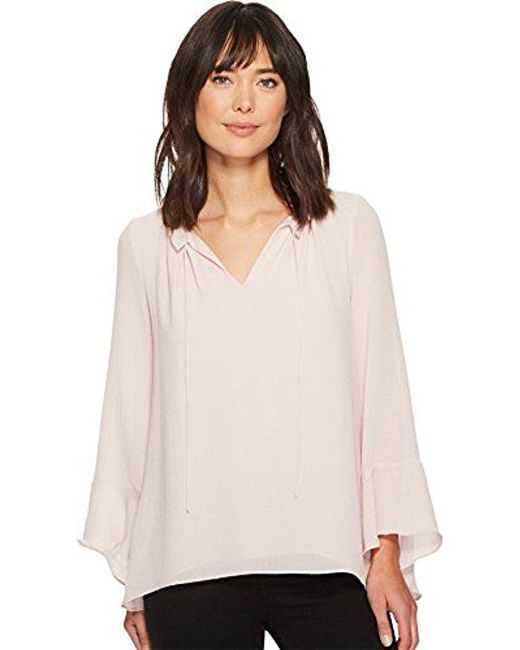Ellen Tracy - Multicolor Full Sleeve Blouse With Tie - Lyst