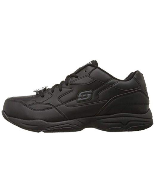 Slip Resistant Work Skechers 77032 Black Shoes Memory Foam Men/'s Comfort Casual