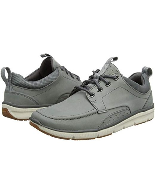 fast delivery clearance sale 100% genuine Clarks Orson Bay Derbys in Grey (Grey Nubuck) (Gray) for Men ...