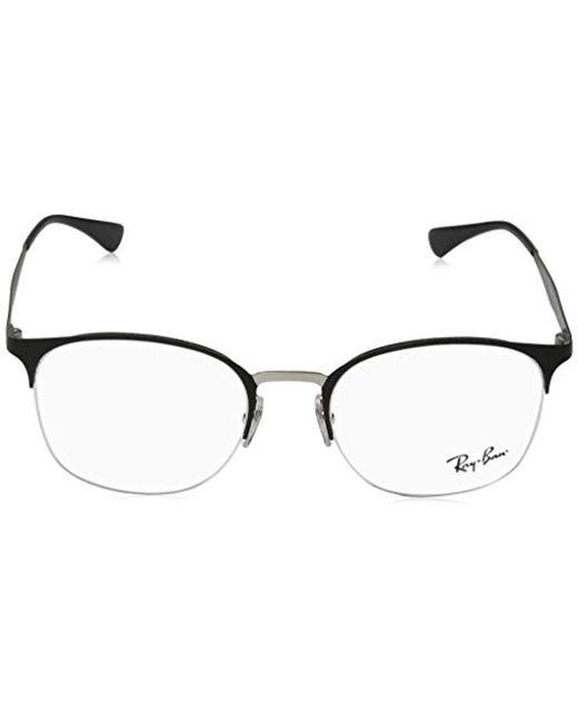 fa2fb33229 ... Ray-Ban - Metallic  s 0rx 6422 2997 51 Optical Frames Silver On Top ...