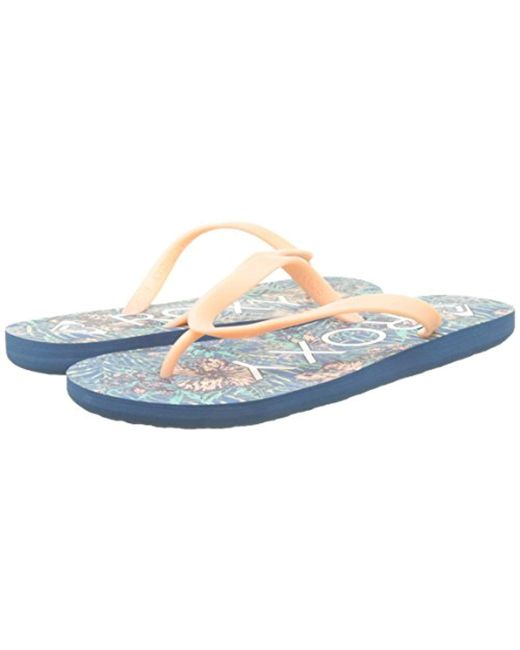 separation shoes 9efcd 51d77 roxy-Multicolor-Blue-Surf-s-Tahiti-V-Flip-Flops-Black-One-Size.jpeg