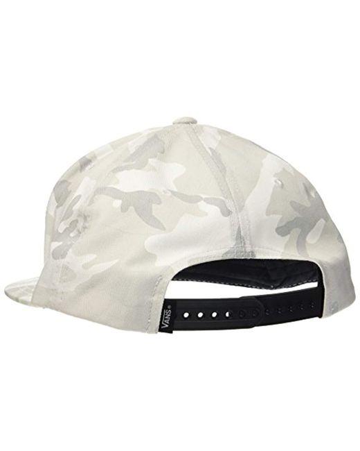 237e2990a4a ... Vans - Gray Full Patch Snapback Baseball Cap for Men - Lyst