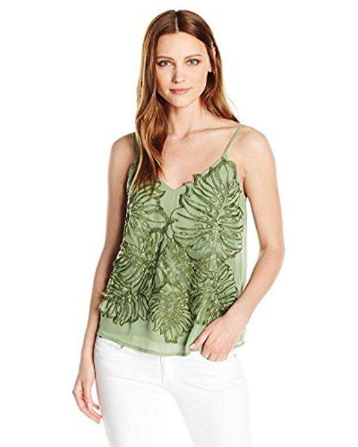 Guess - Green Sleeveless Sedena Organza Top - Lyst