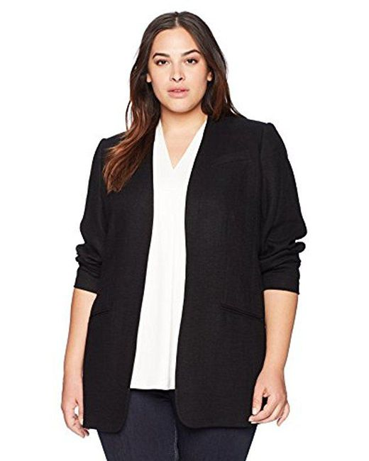 CALVIN KLEIN 205W39NYC - Black Plus Size Open Texture Jacket - Lyst