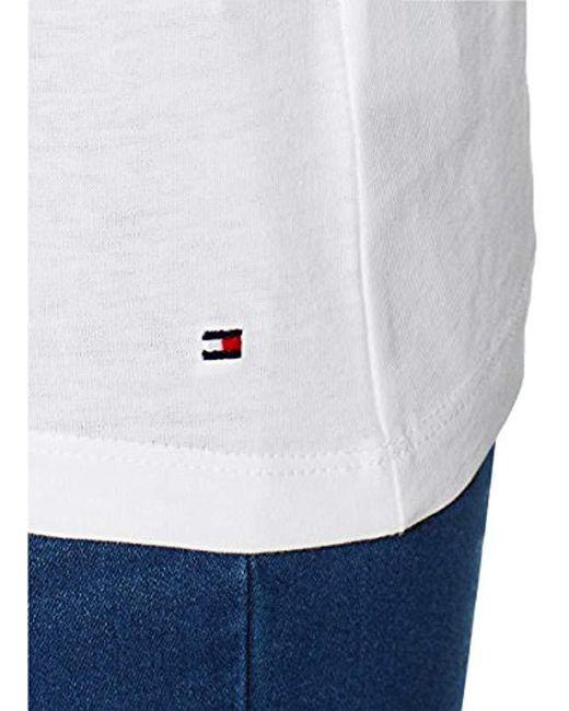 ... Tommy Hilfiger - White Ailia H-prt Tee Ss T-shirt - Lyst fd7ef4b2d6a4