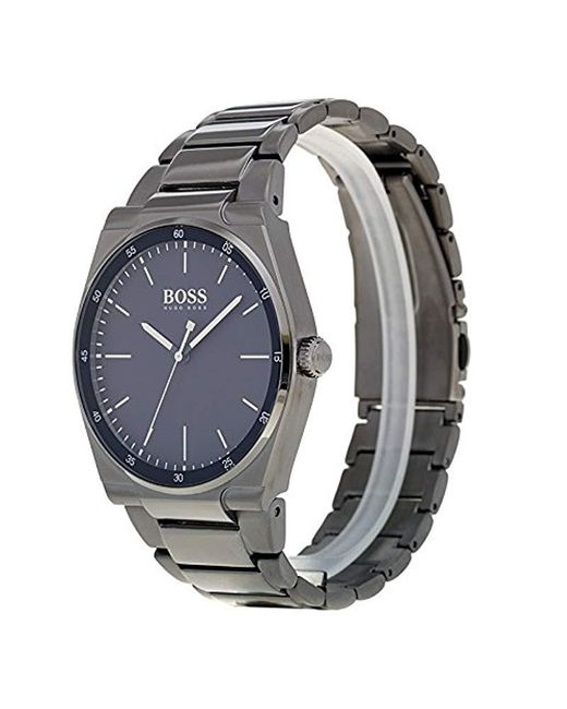 ... BOSS - Blue Reloj Analógico para Hombre de Cuarzo con Correa en Acero  Inoxidable 1513567 for ... 65c0f3601948