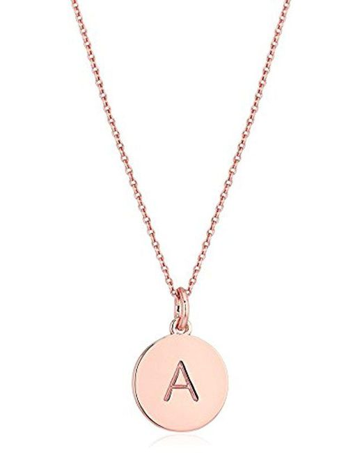 Kate Spade - Metallic Pendant Necklace - Lyst