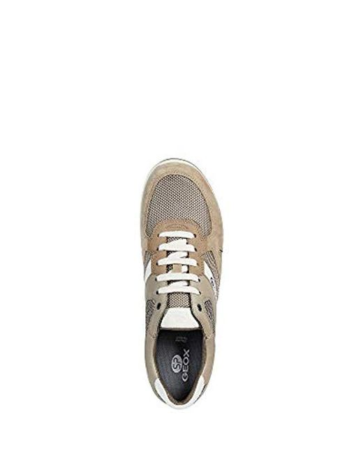 Geox Shoes Sneakers U Wilmer B In Beige Canvas U923xb 01422