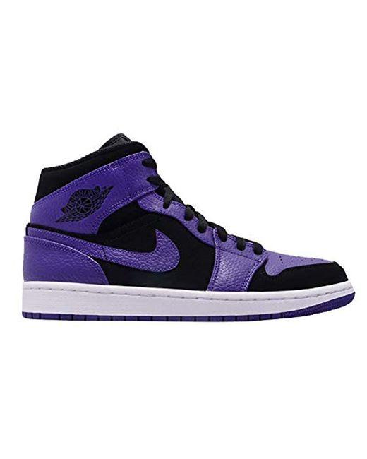 036797b3fbb891 ... Nike - Blue Air Jordan 1 Mid Fitness Shoes for Men - Lyst ...