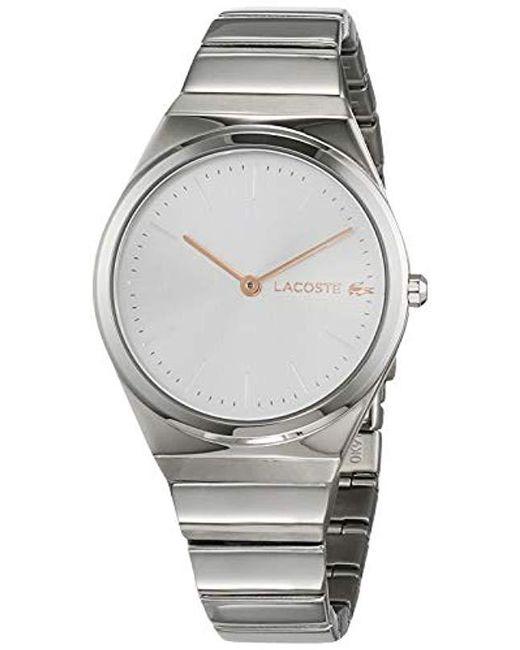 a215d3163228 Lacoste - Multicolor Reloj Analógico para Mujer de Cuarzo con Correa en Acero  Inoxidable 2001054 ...
