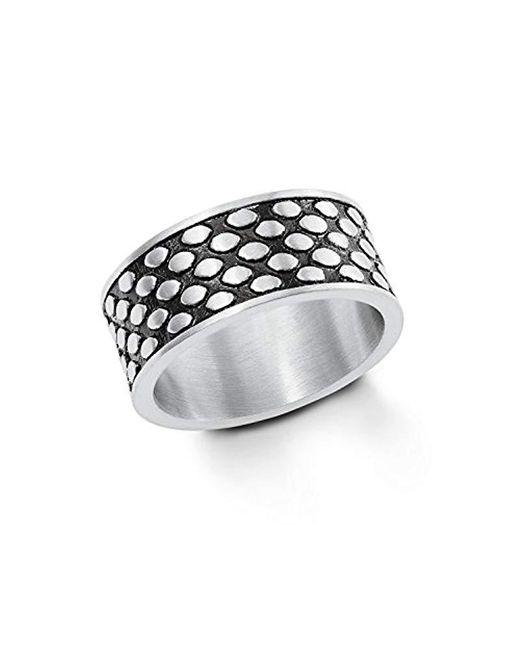 S.oliver - Black Jewel Herren Ring Bandring Edelstahl Bicolor 202263 for Men - Lyst