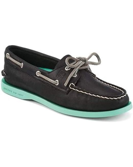 Sperry Top-Sider - Black Top-sider Authentic Original Two-eye Boat Shoe - Lyst