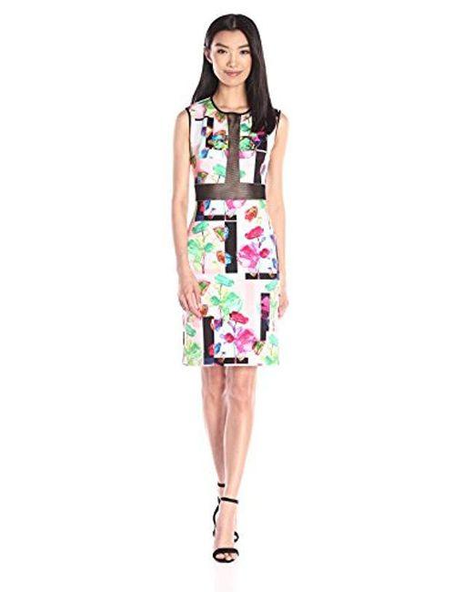 Clover Canyon - Red Sportswear Plastic Flowers Dress - Lyst