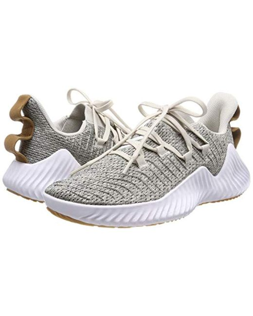 933ad9a3e4596 ... Adidas - White Alphabounce Trainer M Gymnastics Shoes for Men - Lyst ...