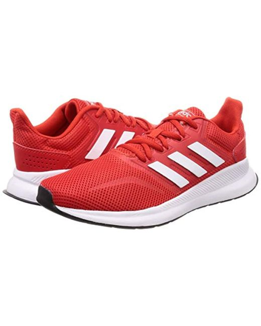 newest e8cf6 9ab2d ... Adidas - Red Runfalcon Running Shoes for Men - Lyst ...