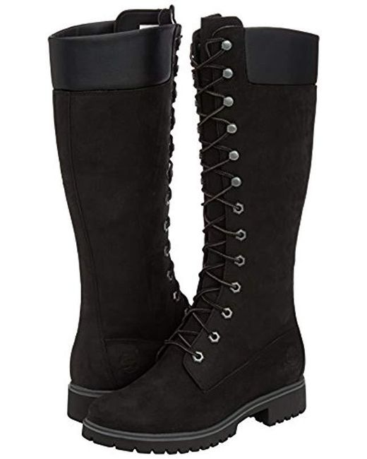 Women's Shoes Clothes, Shoes & Accessories Timberland Women's 14-Inch Premium Lace Waterproof Boot Black 8167R