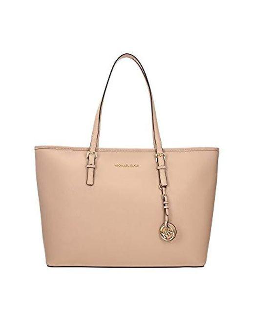 Michael Kors - Pink Jet Set Travel Top-zip Tote Handbag - Lyst ... bf11213bdad41