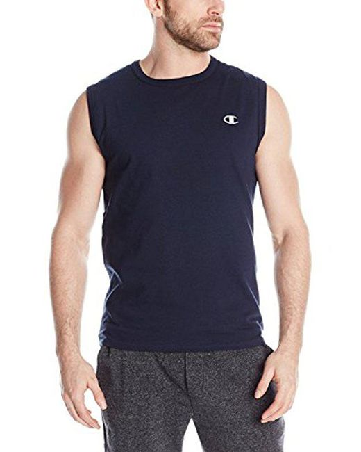 Champion - Blue Jersey Muscle T-shirt for Men - Lyst