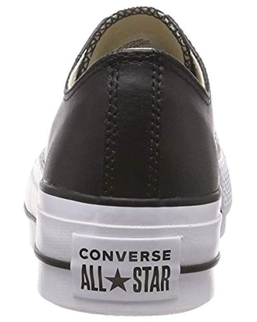 cf15e2a124f89 Converse  s Ctas Lift Clean Ox Black white Low-top Sneakers in Black ...