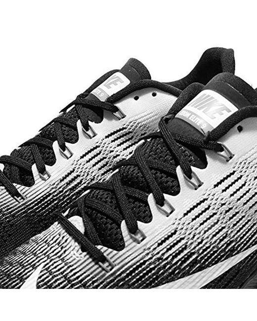 super popular 3c672 0ee36 Nike Air Zoom Elite 9 Running Shoes in Black for Men - Lyst