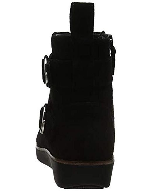 c1d3f8405042 ... Lyst Fitflop - Black  s Oona Buckle Ankle Boots ...