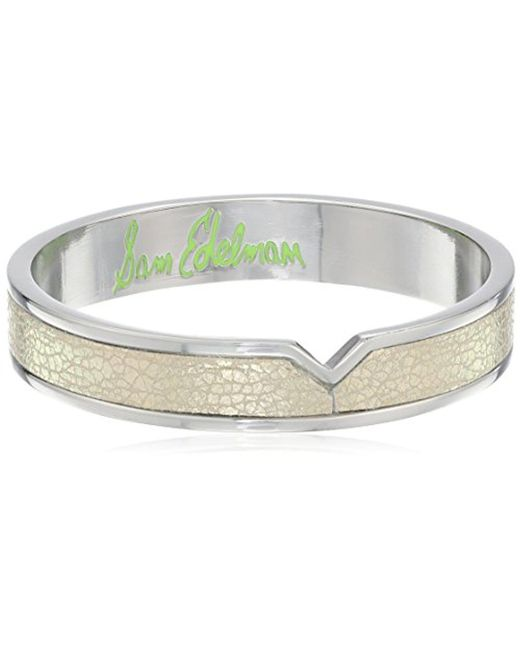 Sam Edelman - Multicolor Leather V Bangle Bracelet - Lyst