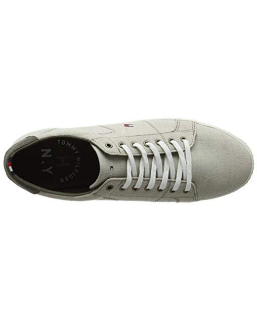 ba78562b8eb3 ... Tommy Hilfiger - Natural  s Essential Pique Denim Sneaker Low-top for  Men -